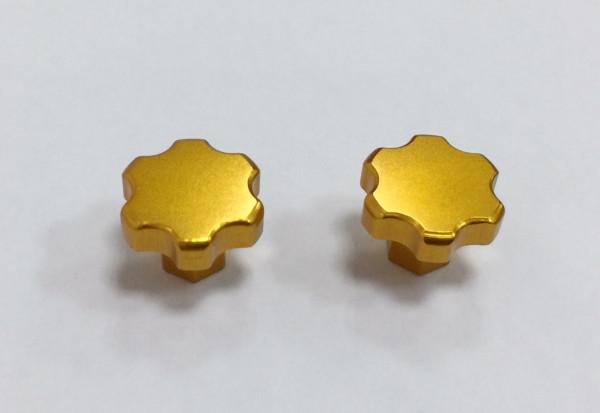 SWISS 7075 T6 Heckflügel Schrauben gold (2 Stück)