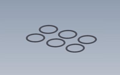 13.5x16x0.3 Unterlegscheiben Set x6
